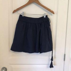 House Of Harlow Navy Blue Wrap Tencel Skirt NWT